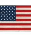 Vintage amerikaanse vlag poster 84 bij 59