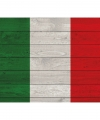 Vintage italiaanse vlag poster 84 bij 59