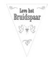 Vlaggenlijn bruidspaar