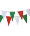 Vlaggenlijn groen rood wit 4 meter