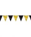 Vlaggenlijn zwart goud 9 meter
