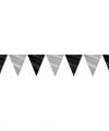 Vlaggenlijn zwart zilver 9 meter