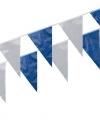 Vlaggenlijnen kobalt blauw wit