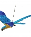 Vliegende knuffel papegaai blauw geel
