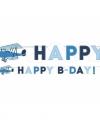 Vliegtuig thema wenslijn happy birthday