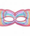 Vlinder oogmasker roze regenboog kinderen