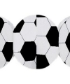 Voetbal slinger zwart wit 3 meter