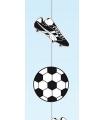 Voetbal slinger zwart wit