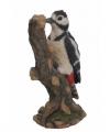 Vogel beeldje grote bonte specht 24