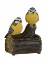 Vogel tuinbeeldje pimpelmeesjes geluid 11