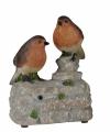 Vogel tuinbeeldje roodborstjes geluid 11