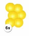 Voordelig lampionnen pakket geel 6x