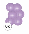 Voordelig lampionnen pakket lila 6x