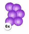 Voordelig lampionnen pakket paars 6x