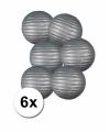 Voordelig lampionnen pakket zilver 6x