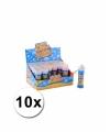 Voordelige kinder bellenblaas 50 ml 10 stuks