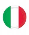 Wegwerp bordjes italie 8 stuks