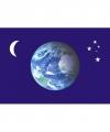 Wereldbol vlag maan sterren