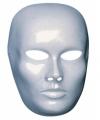 Wit blanco masker dames gezicht