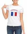Wit dames t-shirt frankrijk