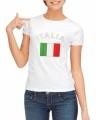 Wit dames t-shirt italie