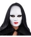 Wit gezichtsmasker rode lippen