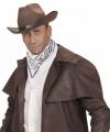 Witte cowboy bandana zakdoek 55 bij 55