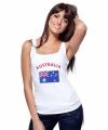 Witte dames tanktop australie 10041320