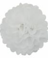 Witte decoratie pompom 25
