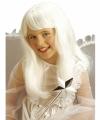 Witte engelen pruik meisjes