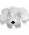 Witte hond masker vacht