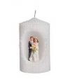 Witte kaars bruidspaar 10
