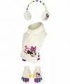 Witte minnie mouse winterset 3 delig