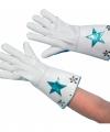 Witte nepleren handschoenen ster