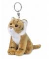 Wnf pluche bruine tijger sleutelhanger 10
