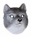 Wolven masker 3d plastic 22cm