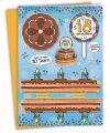 Xxl 3d taart kaart 18 jaar