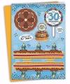 Xxl 3d taart kaart 30 jaar