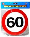 Xxl leeftijd confetti 60 jaar verkeersbord