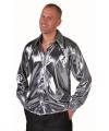 Zilver metallic overhemd heren