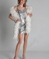 Zilver pailletten dames jurkje