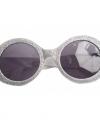 Zilveren disco bril glitters