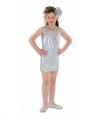 Zilveren glitter jurk meisjes