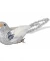 Zilveren glitter vogeltjes 14