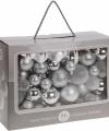 Zilveren kerstballen 86 delig
