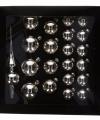 Zilveren kerstballen set 21 stuks