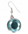 Zilveren oorbellen blauwe diamant chunk
