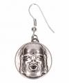 Zilveren oorbellen boeddha chunk