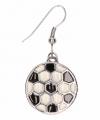 Zilveren oorbellen voetbal chunk