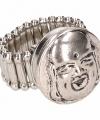 Zilveren ring boeddha chunk